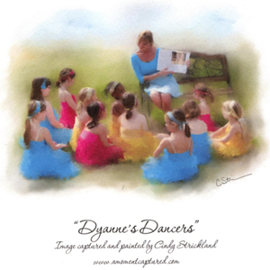 """Dyanne's Dancers"" Image captured and painted by Cindy Strickland, www.amomentcaptured.com"